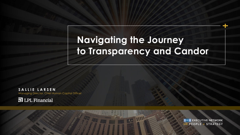 Navigating the Journey to Transparency and Candor