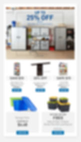 Email sample for Storage and Organization