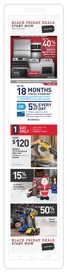 Lowe's Black Friday Mobile Web