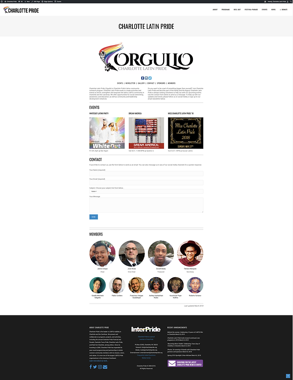 Orgullo Website