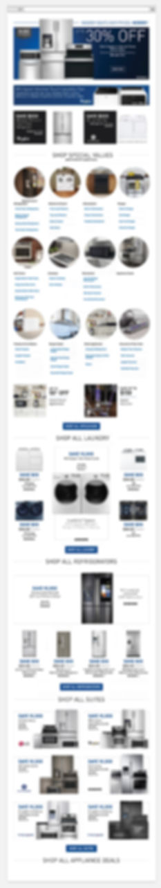 Lowe's improved Appliance Page