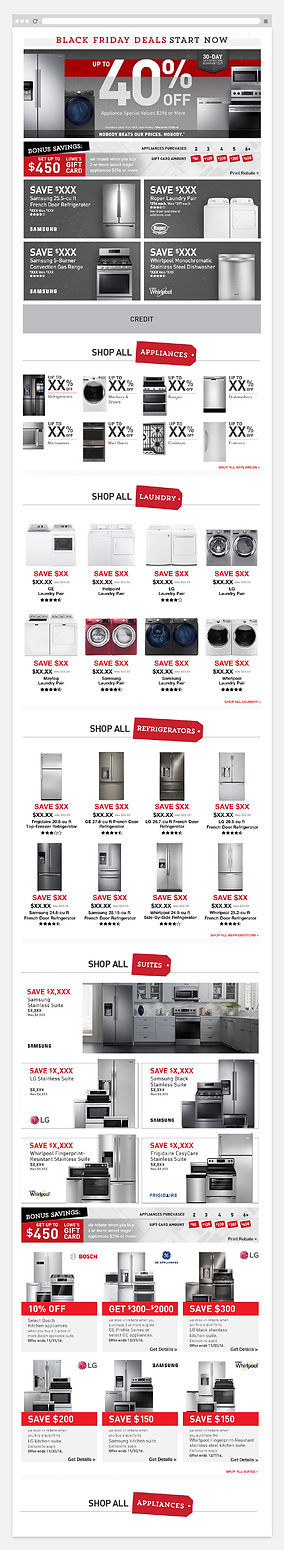 Lowe's Black Friday Appliance Page