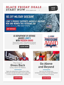 Email sample for Veteran's Day