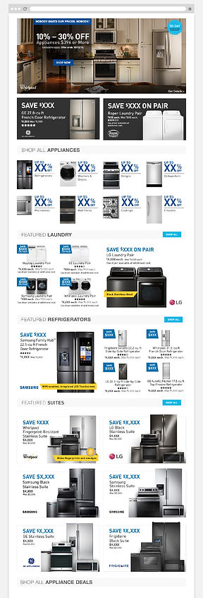 Lowe's old Appliance Page