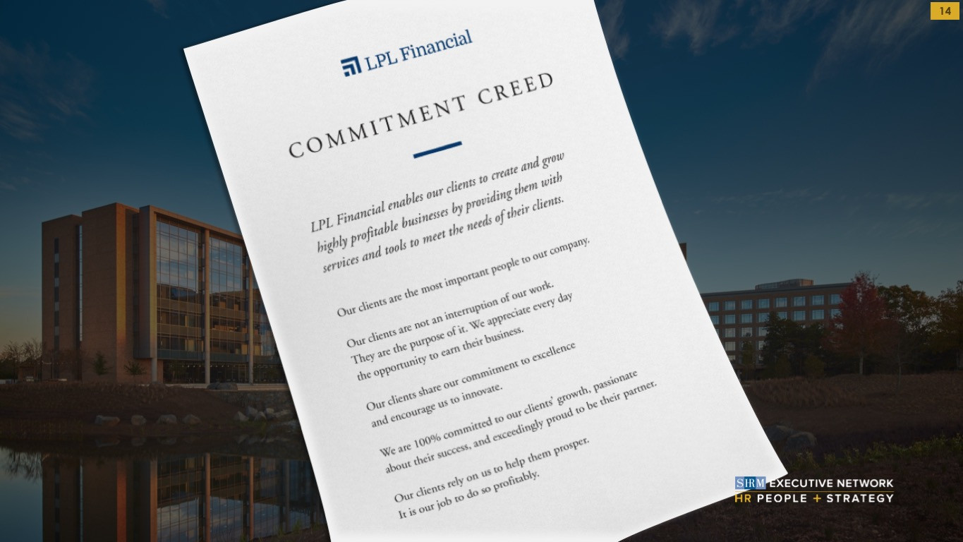 HR Deck commitment creed