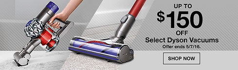 Banner sample for Dyson vacuums promotion