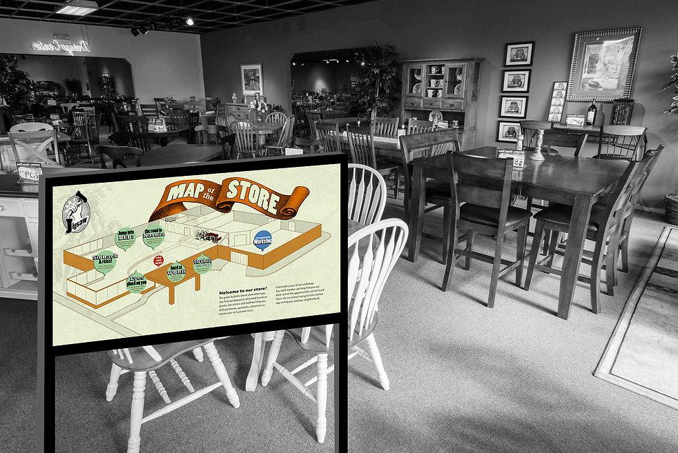 Jigsaw Furniture Illustration Map