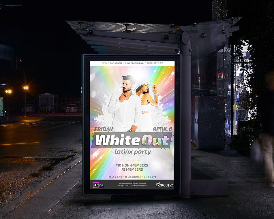 WhiteOut poster on a bus stop
