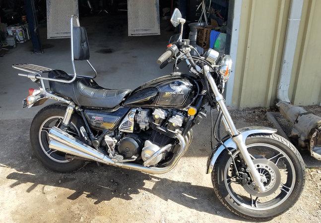83 Honda CB1000 Custom motorcycle black