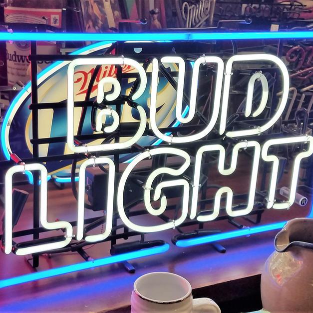 Bud Light rectangular neon sign