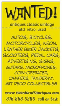 Wanted antiques classic vintage old retro used