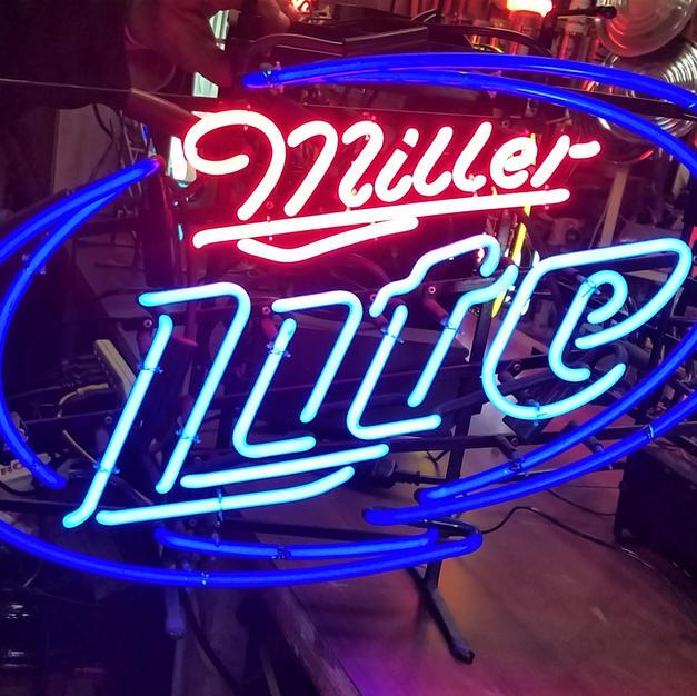 Miller Lite oval neon sign