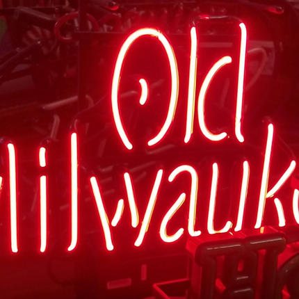 Old Milwaukee neon counter-top sign