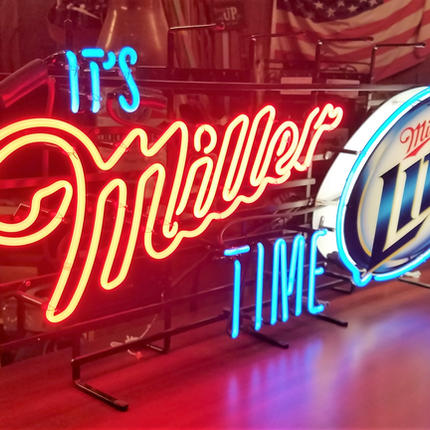 It's Miller Time LITE large neon sign