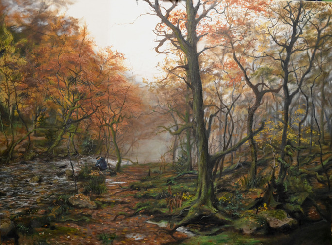 Gorge in Autumn, Oil on Canvas, 75cm x 100cm 2014 [Contact for Enquiries]