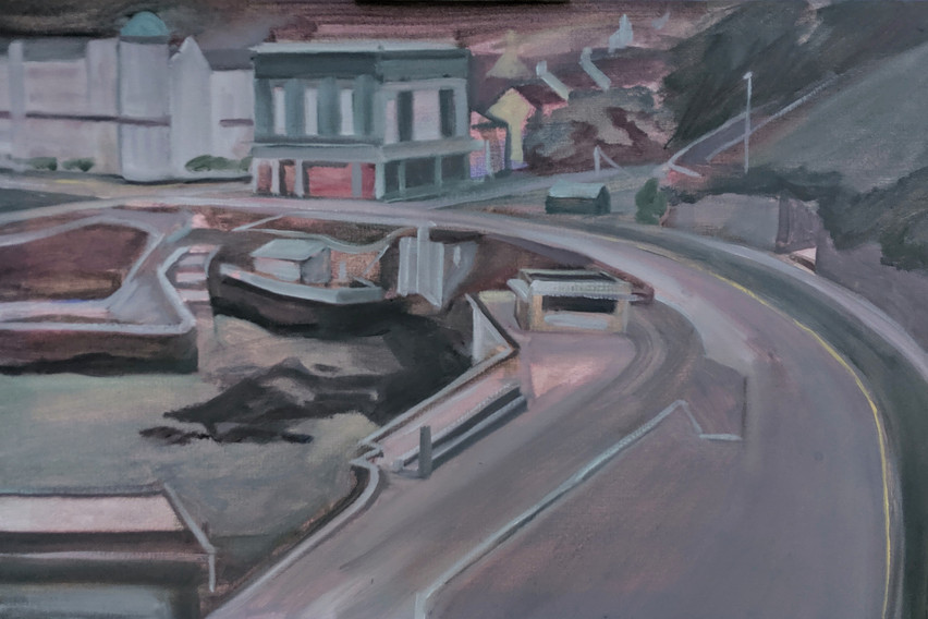 Harbour, Oil on Cavas, 40cm x 60cm, 2019 [Privately Owned]