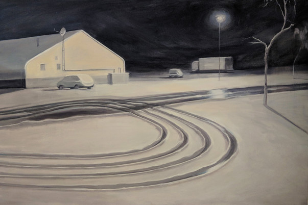 U-Turn, 2019, Oil on Canvas, 60cm x 90cm [Privately Owned]