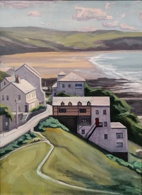 View of Woolacombe, 2019, Oil on Canvas, 45cm x 60cm