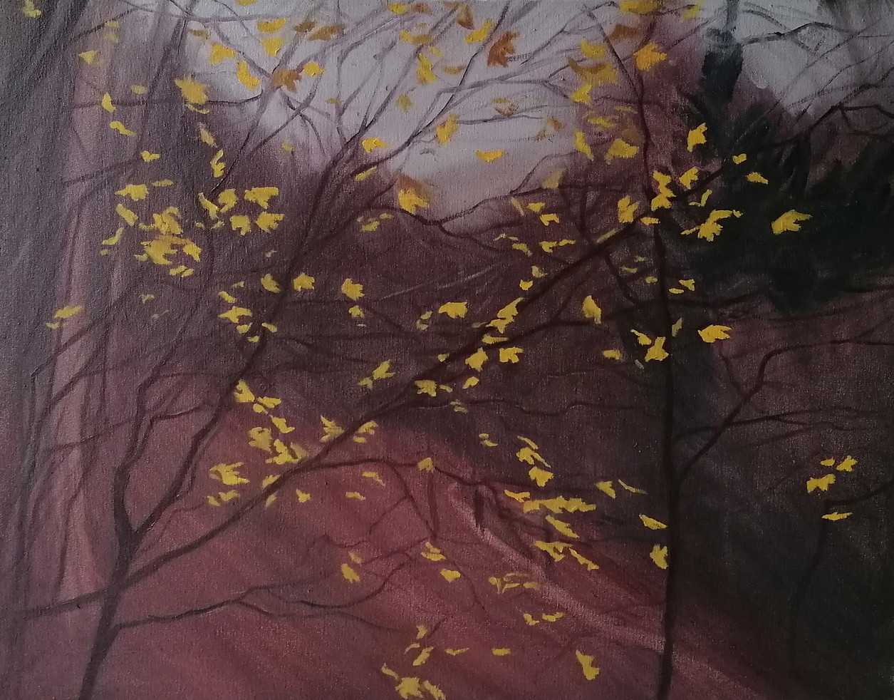 Romanian Forest, 2020, Oil on Canvas, 45cm x 60cm [Contact for Enquiries]