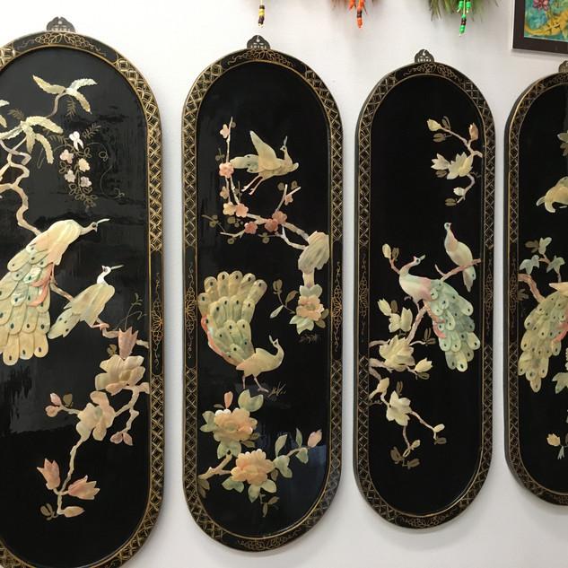 Vintage Asian Panels (4) - $100
