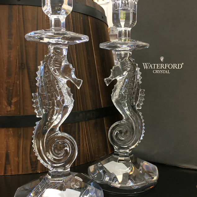 Waterford Seahorse Candlesticks Pair $350