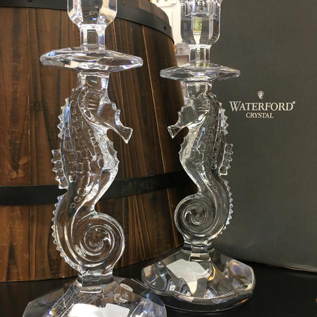 Waterford Seahorse Candlesticks Pair $350