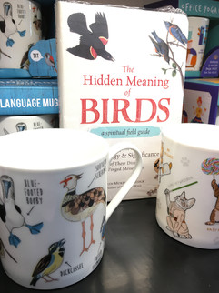Mugs and Books on various subjects.