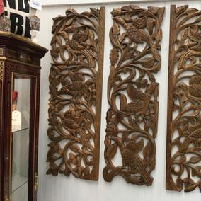 Carved Wood Panels (3) - $250