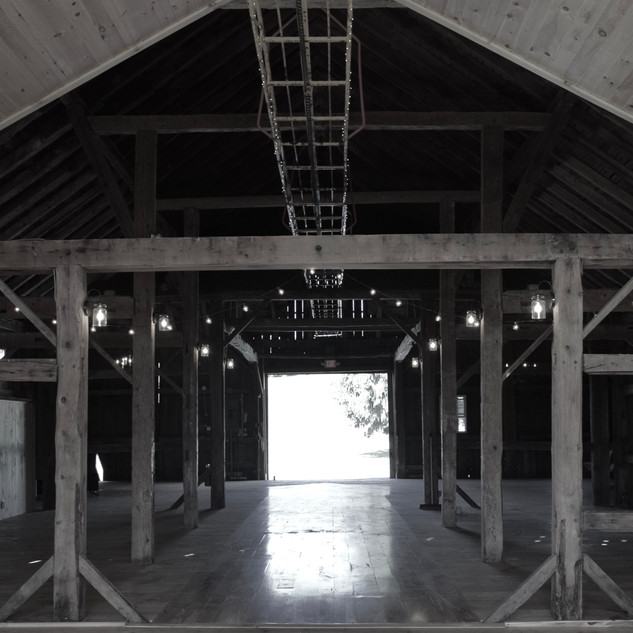 Wedding Barn, view from east end