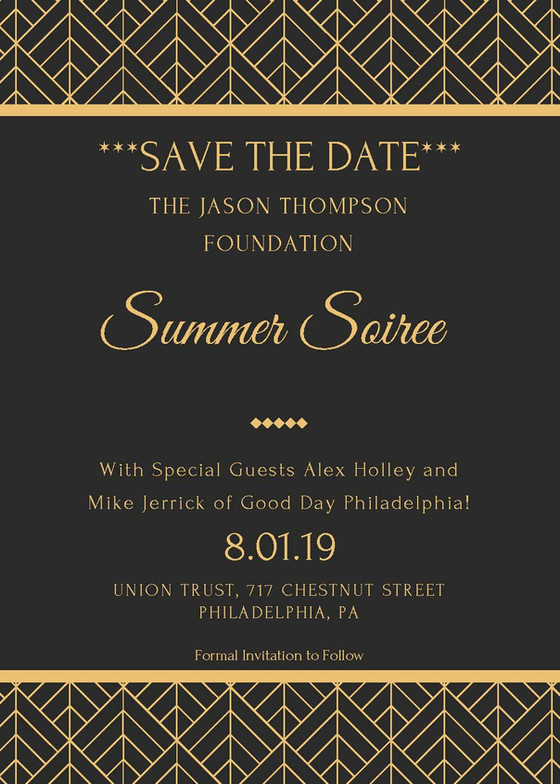 Save The Date: Jason Thompson Foundation Summer Soiree