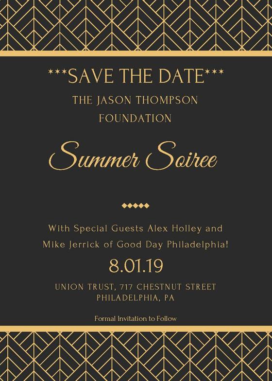 Save The Date: Jason Thompson Foundation Summer Soiree