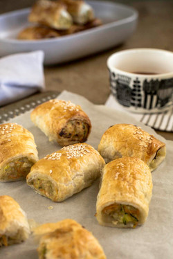 Homemade sausage roll, Catering Queanbey