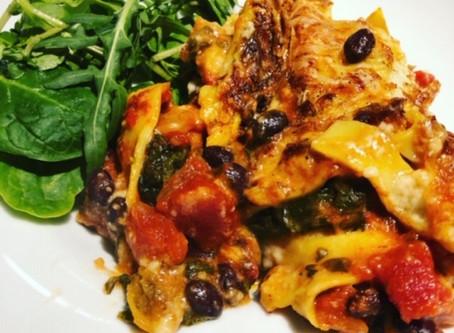 Veggie Lasagne - healthy, nutritious meal using store-cupboard ingredients