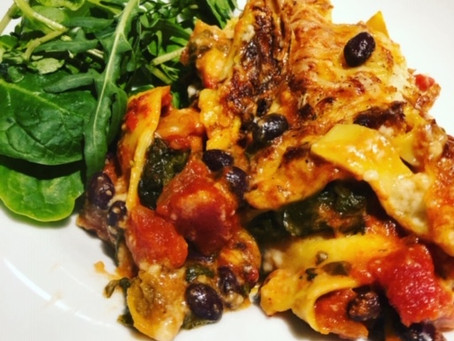 Veggie Lasagne - healthy, nutritious meal using store-cupboard ingredients