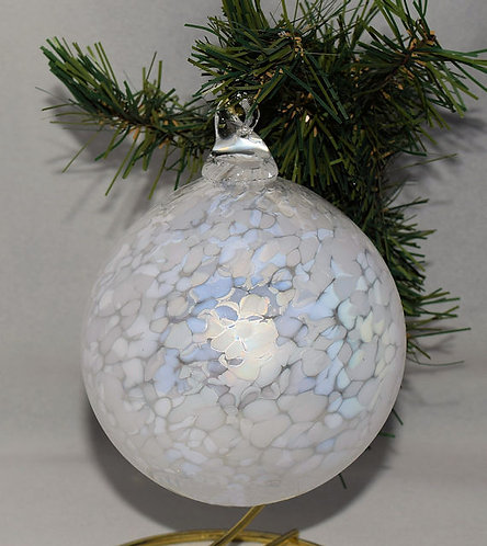 December Snow Ornament