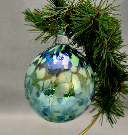 Iridescent Shades of Green Ornament