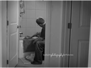 Caught by Dad | Cranbrook Birth Photographer
