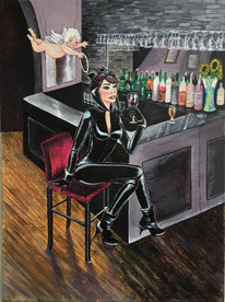 Catwoman At The Bar -Commissioned