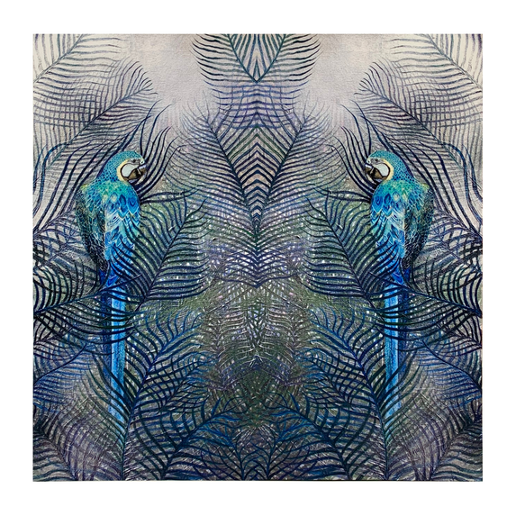 Double Parrot Print Hand Embellished