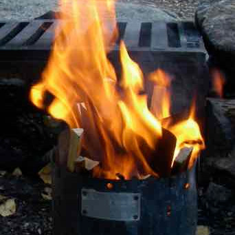 THREE GREAT WOOD BURNING TRAIL STOVES