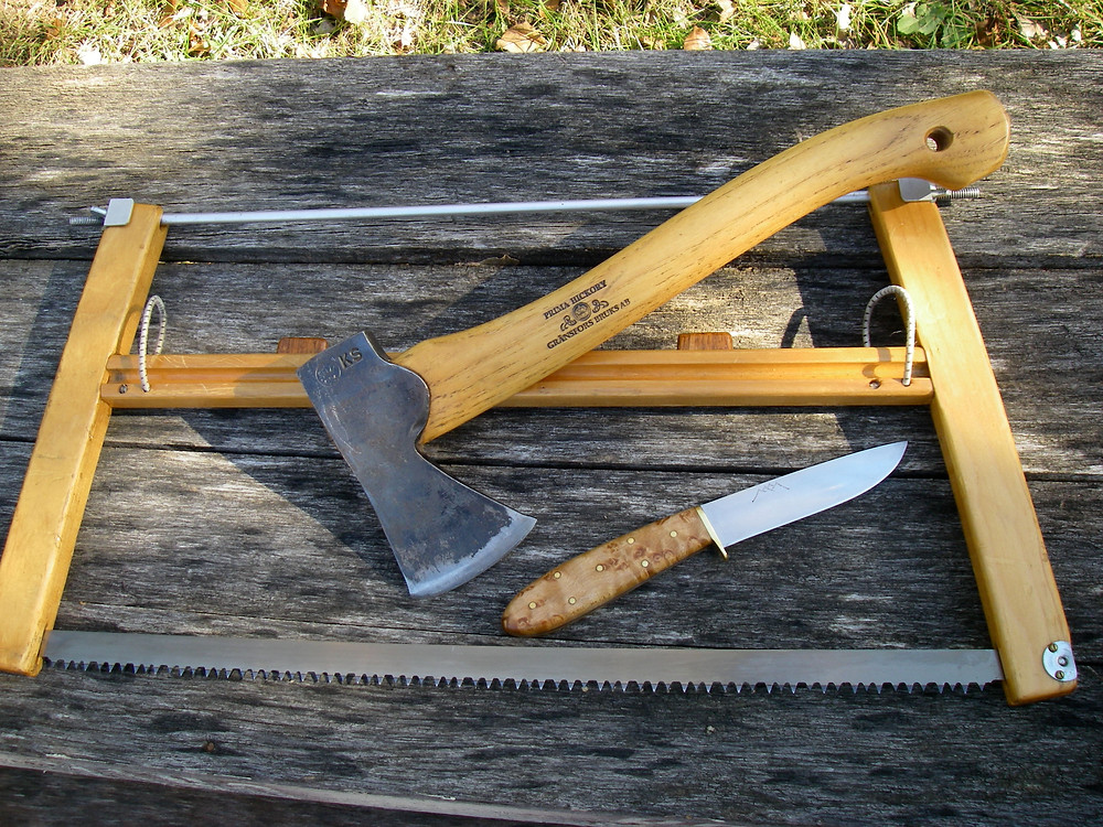 Knife, hand-axe, folding saw