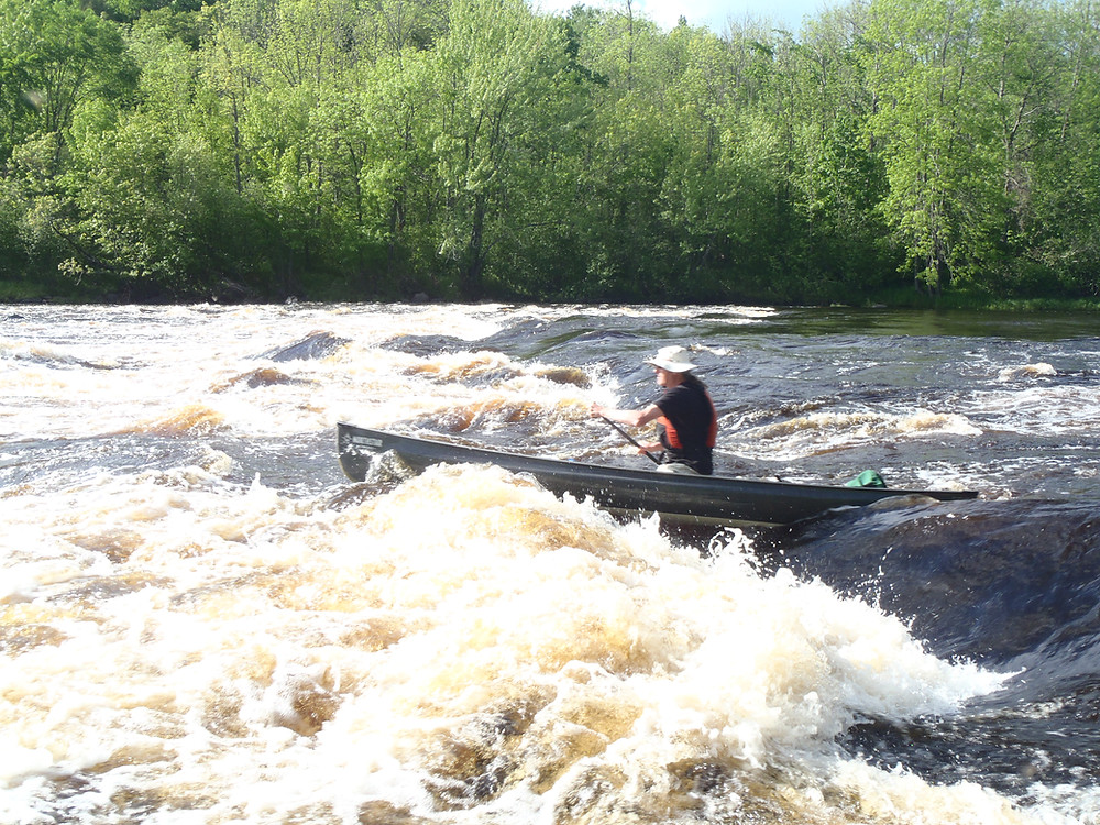 Bear Paulson in Phoenix canoe