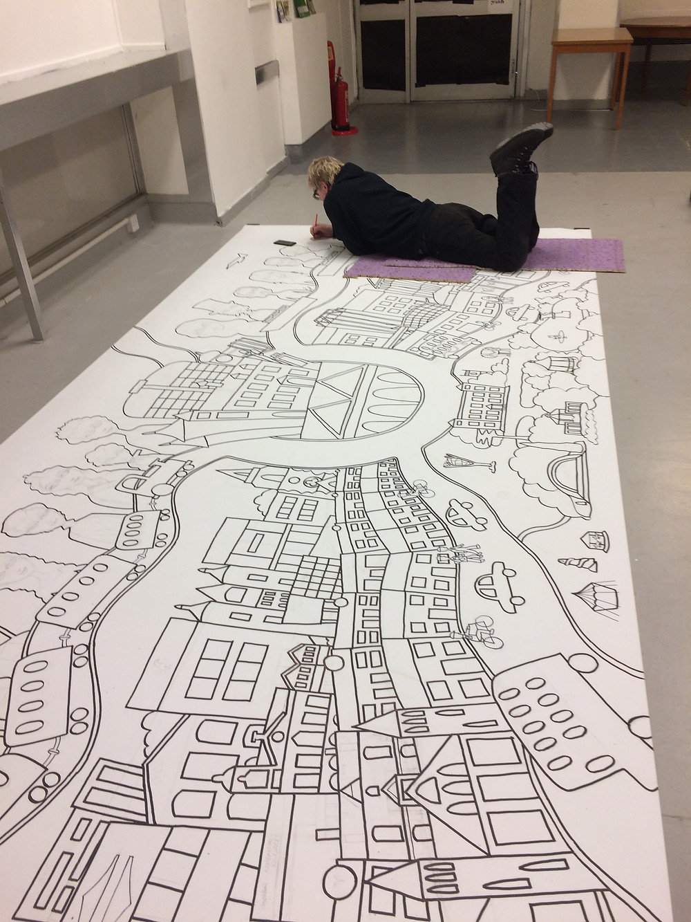 Billy Beaumont Drawing Up Swindon: Then, When & Now Mural
