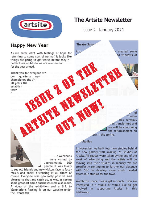 Artsite Newsletter Website Front Page Image
