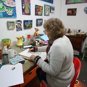 Paula in studio