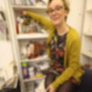 Sam in her studio