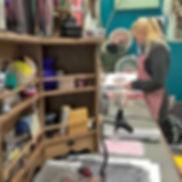 Kelly in her studio