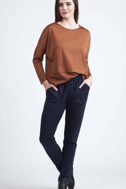 Vassalli / 100% Merino Relaxed Fit Narrow Leg Pant