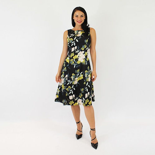 Jendi Japanese Floral Print Dress