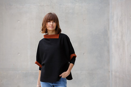See Saw / 2 Toned Cape Top
